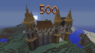 Minecraft Timelapse: WaterCliff Castle 500 SUBSCRIBER SPECIAL