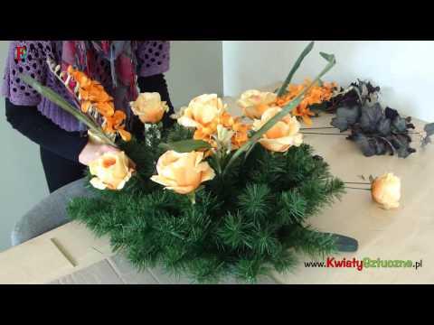Jak zrobić wieniec na cmentarz z kwiatów sztucznych?