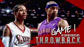 Vince Carter vs Allen Iverson Duel Highlights 2001 Playoffs ECSF G1 Raptors at 76ers - MUST WATCH!
