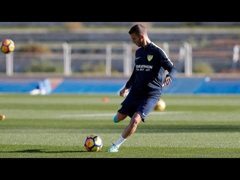 El Málaga se ejercita sin 5 lesionados y sin En-Nesyri, con Marruecos