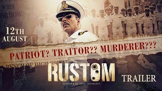 Rustom  Official Trailer  Akshay Kumar