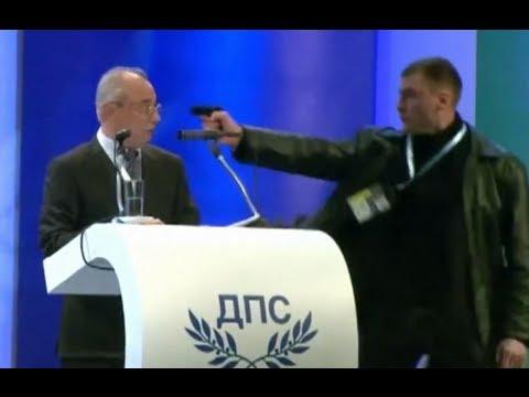 Покушение на болгарского политика в прямом эфире (видео)