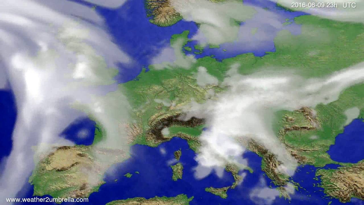 Cloud forecast Europe 2016-06-06