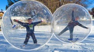 GIANT SNOW GLOBE BUBBLE BALLS!