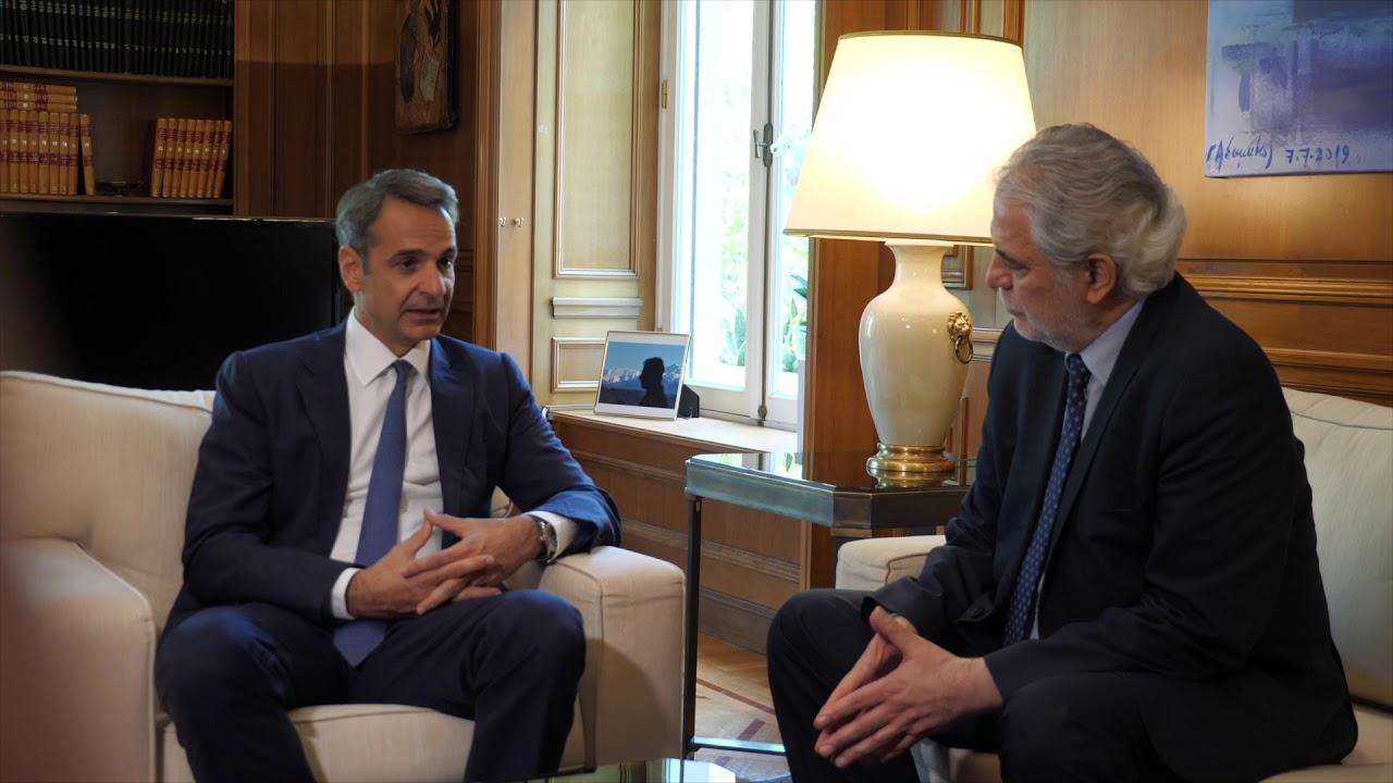 Συνάντηση του Πρωθυπουργού Κυριάκου Μητσοτάκη με τον Κύπριο Επίτροπο κ. Χρήστο Στυλιανίδη