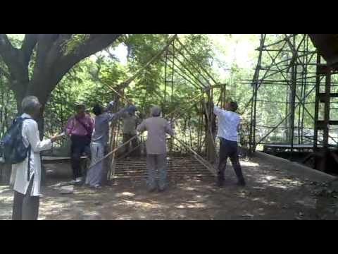 Foldable Bamboo frame for an   Emergency or temporary  Shelter or a green house