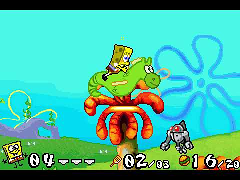 SPONGE BOB SQUAREPANTS Supersponge + Battle for Bikini Bottom / NINTENDO GBA