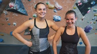 Freja And Ingrid Are Back! 7A Climbing Session by Eric Karlsson Bouldering