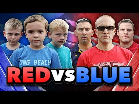 Nerf War:  Red or Blue!?