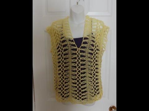 Crochet en Horquilla  Blusa de Verano.