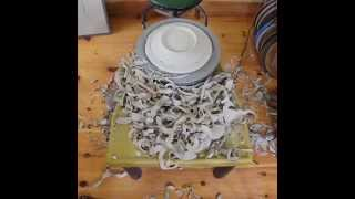 Trimming Porcelain Plates