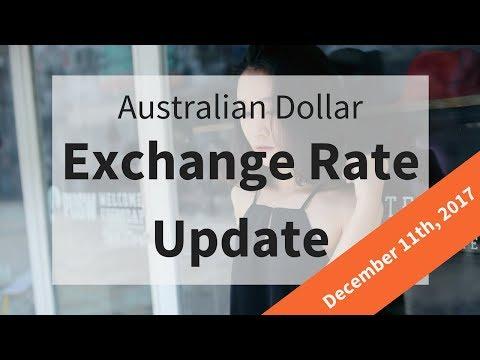 Australian Dollar Exchange Rate Update: December 11th, 2017