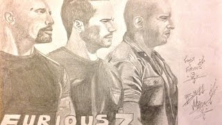 Nonton Fast and Furious 7 Poster Drawing Film Subtitle Indonesia Streaming Movie Download