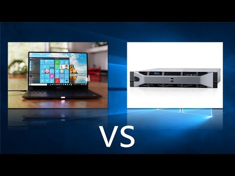 Comparing Windows 10 to Windows Server 2016
