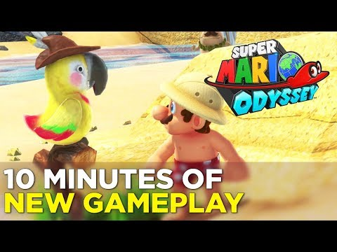 SUPER MARIO ODYSSEY - 10 Minutes of Brand New Gameplay, Yum!