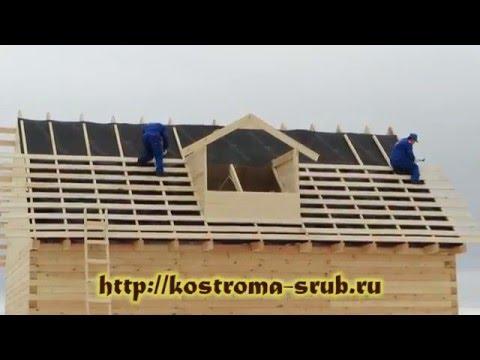 Одноэтажный дом из бруса на свайно-винтовом фундаменте