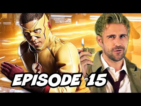 Legends of Tomorrow 3x15 - The Flash Constantine Episode Easter Eggs
