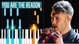"Video Calum Scott - ""You Are The Reason"" Piano Tutorial - Chords - How To Play - Cover MP3, 3GP, MP4, WEBM, AVI, FLV Mei 2018"