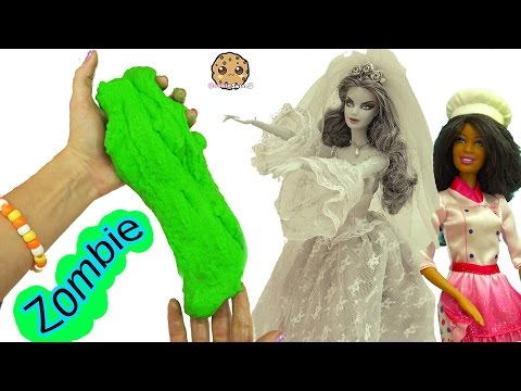 Zombie Bride Doll Dances & Eats Sugar Cookies - Chef Barbie Bakes Dance Party Zombies