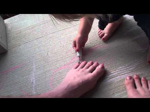 Painting daddy's toes.