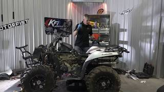 8. SWAMPED ATV engine and diff oil change, Kawasaki Brute Force 750