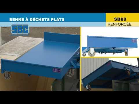 Video Youtube Benne basculante renforcée à déchets plats - Capacité 650 à 1440 litres - Charge inférieure à 3000 kg