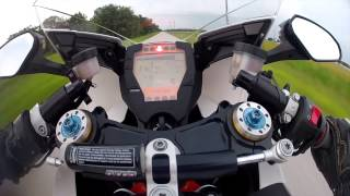 2. 2012 KTM RC8R High Speed On Board First Person Helmet Cam