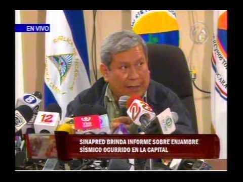 SINAPRED presenta informe sobre enjambre sísmico en Managua