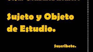 Download Lagu Sujeto y Objeto de Estudio Mp3