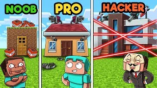 Minecraft - SECURE HOUSE DEFENSE! (NOOB vs PRO vs HACKER)