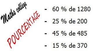 Maths 6ème - Le pourcentage Exercice 1