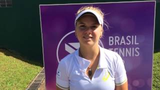 Laura Pigossi joga o quali do Brasil Tennis Cup