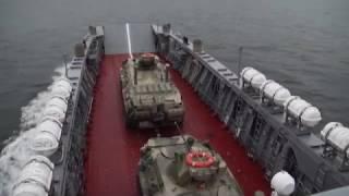 Боевая учеба экипажей десантных катеров Балтийского флота