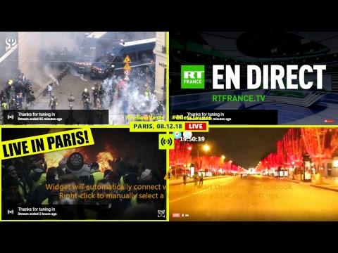 События в Париже в прямом эфире с разных точек