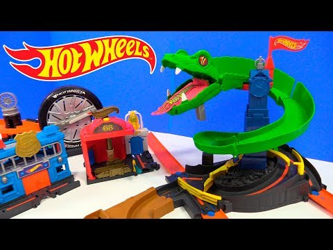 HOT WHEELS CITY PISTA COBRA TRITURADORA COBRA CRUSH ATAQUE EN LA CIUDAD HOT WHEELS