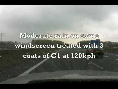 G|techniq G1 Clearvision SmartGlass coating demonstration