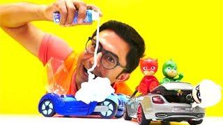 Video pJ Masks oyuncakları! 💥 #NailBaba PJ Maskeliler`in arabasını tamir ediyor 🔧🚙 #erkekçocukvideoları MP3, 3GP, MP4, WEBM, AVI, FLV November 2017