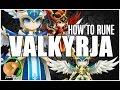 SUMMONERS WAR : How to Rune Valkyrja (Katerina, Camilla, Vanessa, Trinity, Akroma)