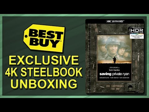 Saving Private Ryan Best Buy Exclusive 20th Anniversary 4K Blu-ray SteelBook Unboxing