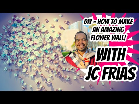 DIY How to Make AMAZING Flower Wall backdrop photo Booth!  Wedding – Engagement- Baby Shower – decor