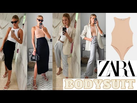 ZARA Bodysuit Rosie Huntington-Whitely Style | 5 Ways to Wear the ZARA Halter neck bodysuit like RHW