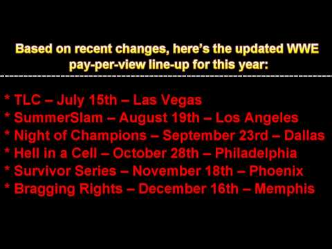 Major Changes To 2012 WWE PPV Schedule!!!!