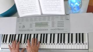 "LetterNotePlayer © ~ For free download of .pdf with the Piano Letter Notes & bass progression, go to: http://www.LetterNotePlayer.com/    Tutorial shows how to play the vocal melodies, with bass notes, as harmony for  ""Thank You For The Broken Heart""  by J Rice - on piano / keyboard, in the original key.     This tutorial  demonstrates the LH bass  notes, introduction arpeggios  & chords.  Demo uses a Piano Pad - sound setting on the keyboard.  If you want to play  ""Thank You For The Broken Heart"" this video makes it accessible; perhaps having you play most of it in just a few minutes.  Easily adapted to a ""sing along""    Also - follow me on Twitter - LtrNotePlayer - receive tweets whenever I upload a new video. If you subscribe to my channel you will automatically receive notices every time I upload a tutorial - I upload quite often - always a requested song."