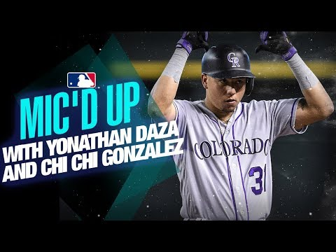 Video: Rockies' Yonathan Daza and Chi Chi Gonzalez - Mic'd Up behind the scenes at Coors Field