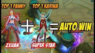 Video Zxuan TOP 1 Fanny Feat TOP 1 Karina Super Star Gimana Nasip Musuh ? MP3, 3GP, MP4, WEBM, AVI, FLV November 2017
