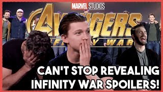 Video AVENGERS Cast Can't Stop their SPOILERS! |  INFINITY WAR 2018 MP3, 3GP, MP4, WEBM, AVI, FLV Maret 2018