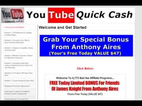 James & Ken Knight's YouTube QuickCash|Software Review of My Purchase|Make Money with YouTube Videos