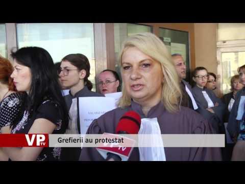 Grefierii au protestat