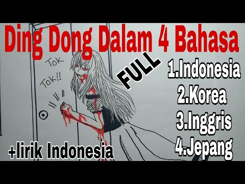 Ding Dong Ku Datang Padamu [[Hide And Seek in 4  languages ]]+[[lirick indonesia + My Draw]]