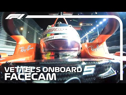 Blink and You'll Miss It! Facecam with Sebastian Vettel | 2019 Singapore Grand Prix